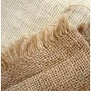 Ткань мешочная джутовая фото