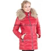 Куртка с мехом Mishele 9901 красный фото