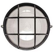 Світильник НПП2604 чорний/овал з решіткою пластик 60Вт IP54 ІЕК (шт.)