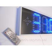 Часы термометр светодиодные синие с отображением даты и месяца. Яркость 400мКд