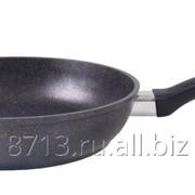 Сковорода 260/60мм с ручкой, АП темный мрамор , арт. смт262а фото