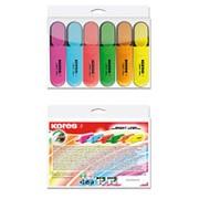 Набор маркер-выделителей Kores , 6 цветов фото