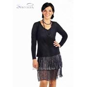 Блуза 1510 Чёрный цвет фото