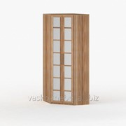 Шкаф угловой 60 - 45, Васко СОЛО-014 Корпус слива, фасад слива/зеркало фото
