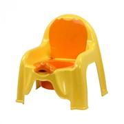 Горшок-стульчик детский (св.жёлтый) фото
