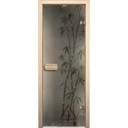 Дверь для бани АКМА АРТ с Фьюзингом БАМБУК 7х19 (коробка липа) фото