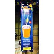Трубочка для коктейля GLOW 6шт Оранжевая фото