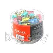 Зажимы для бумаг 25 мм, цветные, ассорти. Tukzar