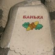 Шапка банная, банные принадлежности, шапочки для бани. фото