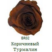 Одна долгосвежая роза FLORICH в подарочной упаковке. Коричневый турмалин 7 карат, короткий стебель. Харьков фото