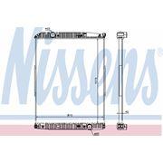 Радиатор охлаждения MERCEDES-BENZ ACTROS 96- (пр-во Nissens) фото