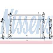 Радиатор охлаждения OPEL (пр-во Nissens) фото
