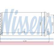 Радиатор отопителя MAN TG-A 2000- (пр-во Nissens) фото