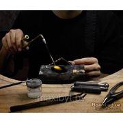 Замена замка-брезуры на ювелирных изделиях + пайка фото