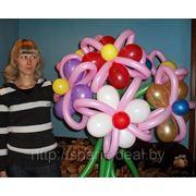 Букет цветов из шаров. арт.10010 фото