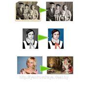 Фотомонтаж, восстановление, раскрашивание ч/б фотографий фото