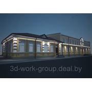 3d дизайн и визуализация архитектурной подсветки фото