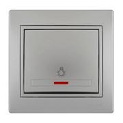 Кнопка таймера с подсветкой Mira цвет металлик фото