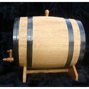 Бочка для вина 30л улучшает вкусовые свойства напитка делая букет более насыщенным изнутри снабжены надежным деревянным краном фото