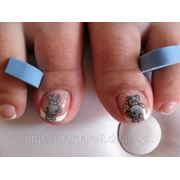 Покрытие гелем ногтей на ногах фото