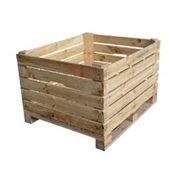 Деревянные контейнеры. фото