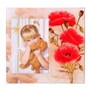 Фоторамка Сима 10*15 стекло Нарисованные маки фото