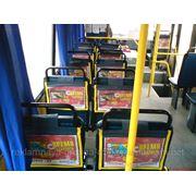 Реклама на подголовниках в маршрутках Симферополя фото
