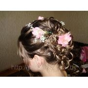 Свадебная прическа 7 фото