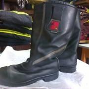 Сапоги пожарные кожанные с высокой халявой фото