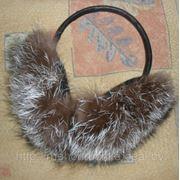 Наушники из меха чернобурки фото