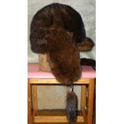 Женская шапка из старых норковых шапок (вид сбоку) фото