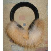 Наушники из меха лисицы фото