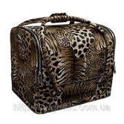 Кейс для косметики леопардовый фото
