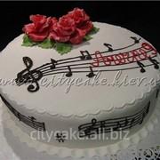 Торт тематический Ноты №0193 код товара: 4-0193 фото
