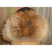 Женская шапка-ушанка из натуральной кожи и меха лисицы фото