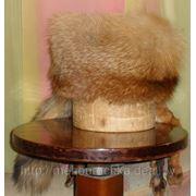 Мужская шапка-кубанка из меха рыжей лисы фото