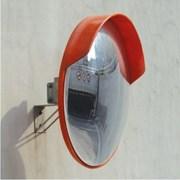 Зеркало обзорное 600 мм уличное с козырьком фото