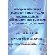 Методика измерений массовой концентрации вредных веществ фото