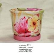 Цветочные керамические горшки фото