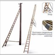 Лестница приставная диэлектрическая для подъёма на опоры ВЛ Луч ЛСПСО-4,25 фото