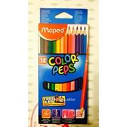 Цветные карандаши Maped 12 цветов фото