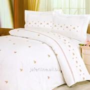 Постельное белье с вышивкой и кружевом 2704 Простыня и наволочка фото