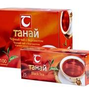 Чай Танай черный байховый с бергамотом 100 пак. фото