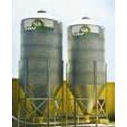 Бункер для сыпучих кормов на 80 тонн. фото
