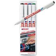 Набор маркеров для кабеля Edding 8407/4S, 0,3мм, 4цв/уп фото