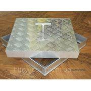 Люк ревизионный напольные алюминиевый с видимой профилированой крышкой фото
