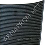 Резиновая пластина рифленая (коврик рифленый) фото