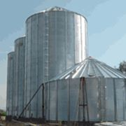 Зернохранилища (оцинкованные силоса) фото