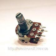 Резистор переменный RV16GN(PH) 100 kOhm линейный стерео фото