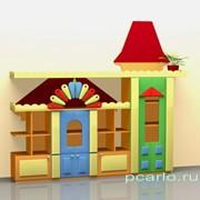 Стенка для игрушек Городок фанера МД-08.01-Ф фото